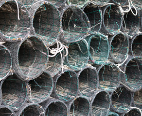 pile of fish net