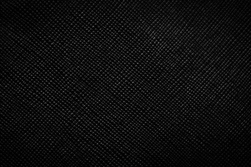 Genuine black leather background, pattern, texture.