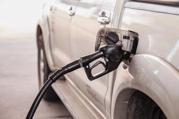 Close up car refuel