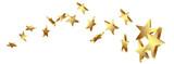 Sternschnuppe, Goldstern, Gold, Sterne, Schweif, Komet, Star, 3D