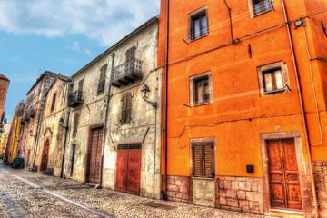 Colorful backstreet in Bosa