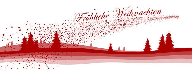 Fröhliche Weihnachten, Grußkarte, Panorama, Head, Webdesign, Rot