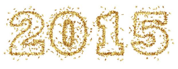 Jahreszahl, Gold, Glamour, Silvester, Neujahr, Sterne, festlich