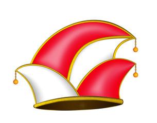 rot-weiße Karnevalsmütze