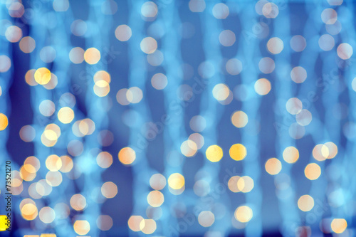 canvas print picture blurred golden and blue lights background