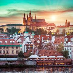Prague Castle at sunset