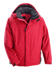 red ski anorak