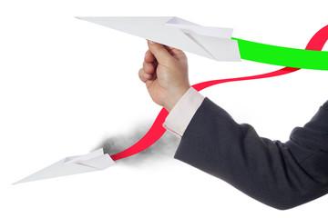 Affari - decollo azienda - sorpasso