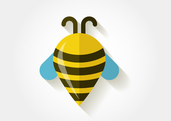 Abstract bee symbol. Stylized waypoint. Vector logo icon templat