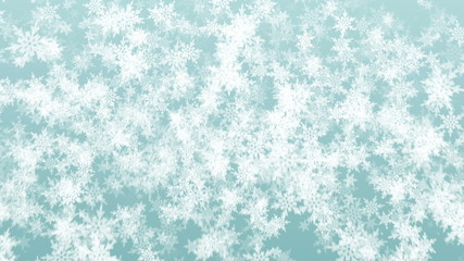 Beautiful Christmas snowflakes seamless falling