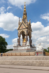 The Albert Memorial in Hyde Park, London, UK.