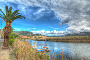 Temo river under a cloudy sky