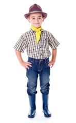 Casual little cowboy