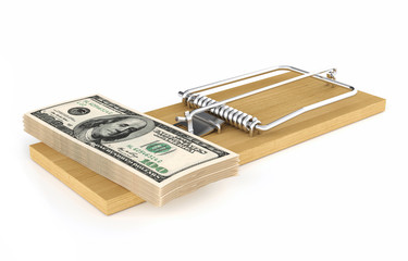 Money in a mousetrap