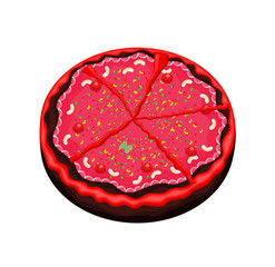 Abstract Decorative Festival Cake