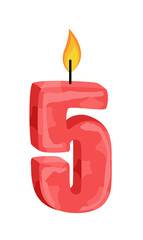 Five Number Candle