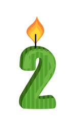 Two Number Candle