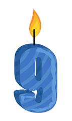 Nine Number Candle