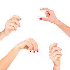 Women hands set