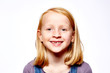 canvas print picture - Mädchen lächelt