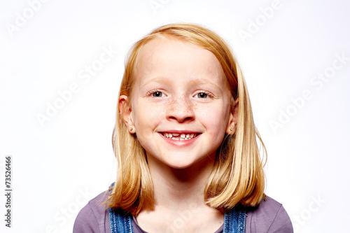 canvas print picture Mädchen lächelt