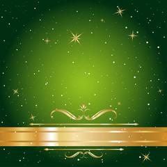 gold label christmas card background vector