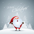 Santa Claus in Christmas snow scene