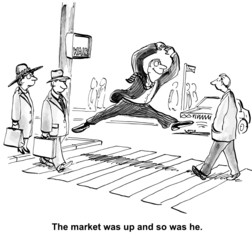 The market was up and so was he.