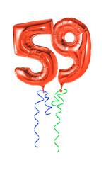 Rote Luftballons mit Geschenkband - Nummer 59