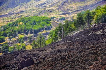 Landscapes of Etna, Sicily ,Italy.