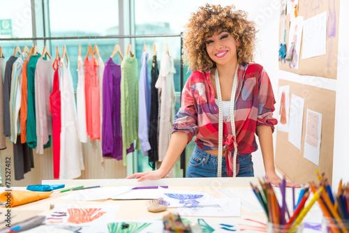 Poster Fashion designer at work