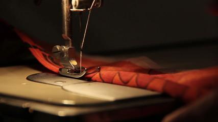 sewing machine sews