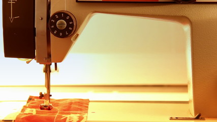 sewing machine sews