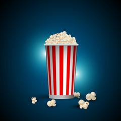 popcorn, cinema, film, fotogrammi, rullino