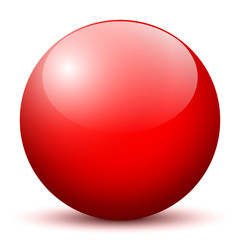 Rote Kugel, Vorlage, Designvorlage, Ball, Sphere, Red, Rot, Glas