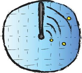 doodle radar icon