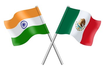 Flags: India and Mexico