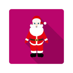 Icon Santa Claus for flat design