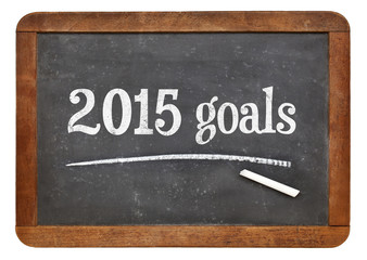 2015 goals on blackboard
