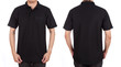 blank polo shirt set (front, back) on man - 73529218