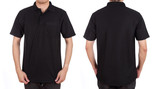 blank polo shirt set (front, back) on man
