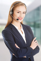 Call center girl.