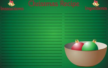 Christmas Recipe Page Bowl