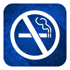 no smoking flat icon, christmas button