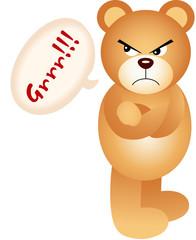 Teddy bear angry