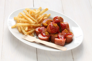 currywurst, curry sausage, german food