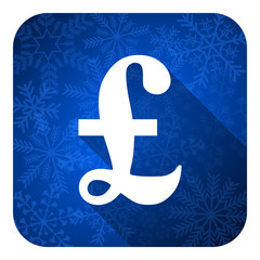 pound flat icon, christmas button