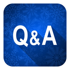 question answer flat icon, christmas button
