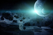 Leinwanddruck Bild - Planet explosion apocalypse