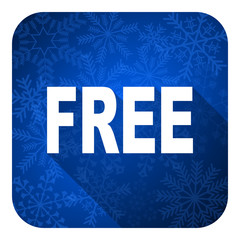 free flat icon, christmas button